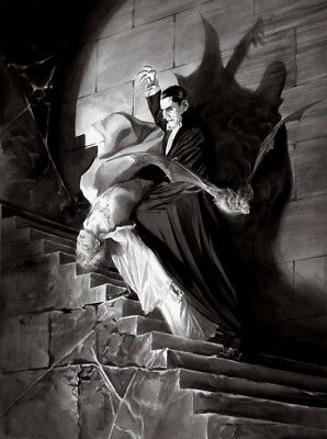 Universal Studios Classic Black & White Count Dracula Vampire Halloween Fine Art](Black And White Halloween Movie)