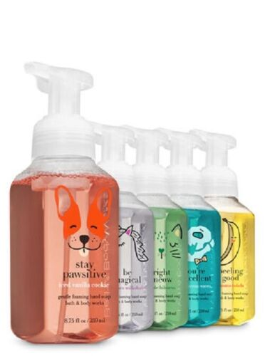 Bath and Body Works Foamy Friends Foaming Hand Soaps 5 pack 8.75 oz each