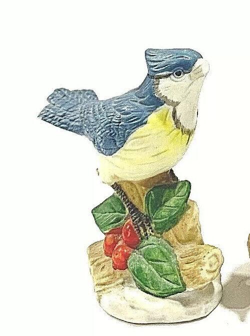 """Royal Heritage Fine Porcelain  """"Blue Jay"""" Bird Figurines Vintage"""
