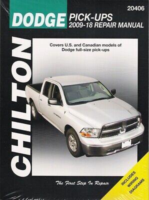 2009-2018 Dodge RAM Pickup 2/4WD V6/V8/V10 Gas/Diesel Repair Service Manual 3564 Dodge Ram Pickup Manual