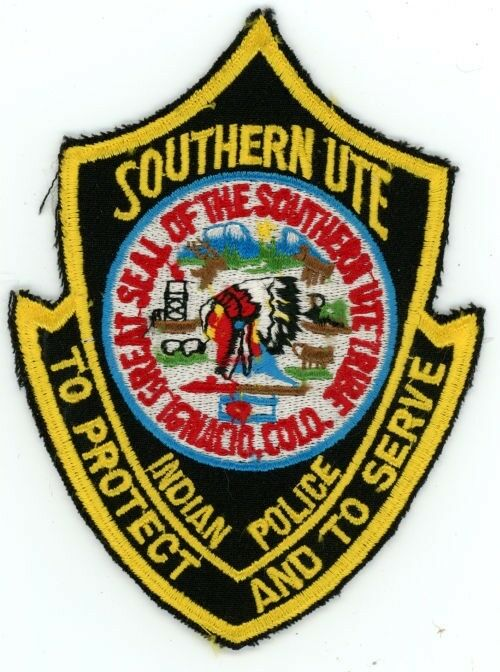 SOUTHERN UTE INDIAN TRIBE COLORADO CO POLICE COLORFUL PATCH SHERIFF