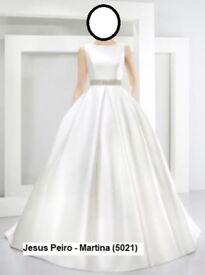 Jesus Peiro Martina (5021) Mikado Silk Wedding Dress with Hangers, Storage Bag/Cover & Box