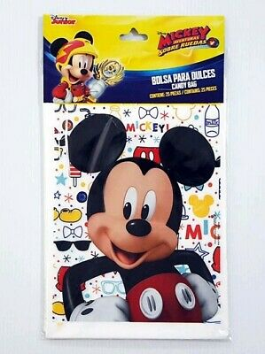 25 Mickey Mouse Party Favor Bags Loot Bags Goody Party Bags Party Supplies Mickey Mouse Goody Bags