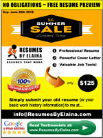 ▒█► Professional Resume Writing Service:   NO OBLIGATIONS!
