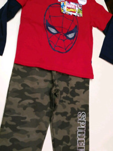 """4/5T Boys """"Spiderman,"""" outfit.. BRAND NEW WITH TAGS"""