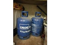 2x 15KG Calor Butane Gas 1 has some in and other is empty