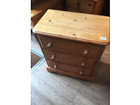 Solid Pine Chest of Drawers ( 2 available ) £65 each