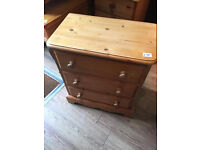 Solid Pine Chest of Drawers ( 2 available ) £75 each