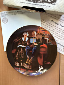 Norman Rockwell 'Evening's Ease' Collector PLATE