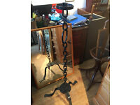 Large Iron Candle Holder , this would look great in any room , solid piece.