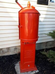 Vintage Canadian Bowser Red Sentry Long Distance Gas Pump, 1912