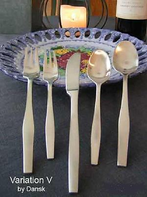 DANSK VARIATION V 5 piece Place Setting Service for 1 Stainless Flatware