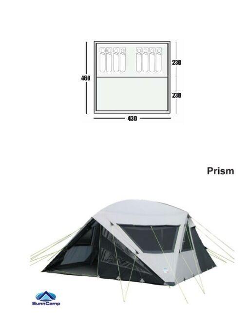 SunnC& Prism Tent 8 berth 4.3 x 4.6m Black/grey inc carpet  sc 1 st  Gumtree & SunnCamp Prism Tent 8 berth 4.3 x 4.6m Black/grey inc carpet ...