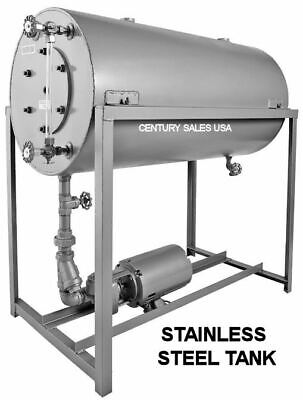 40 Gal Stainless Boiler Condensate Return Tank W Burks 1hp 10cs5m Pump Bj55ss