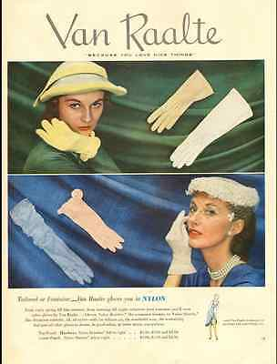 1951 vintage ad for Van Raalte Women's Gloves -700