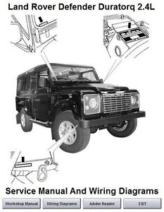Land Rover Defender Duratorq 2.4L TDCi Workshop Service Repair Manual 2007 on