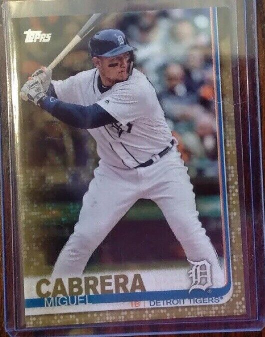 Topps Series One Gold Miguel Cabrera Detroit Tigers 1167/2019