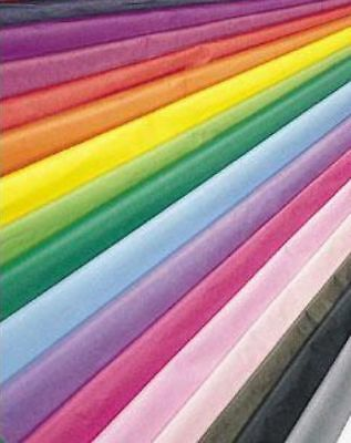 10 LARGE SHEETS QUALITY TISSUE PAPER ACID FREE BIODEGRADABLE 30 COLOURS 50X75CM