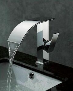 Ottone rubinetto lavabo bidet bagno cascata rubinetteria miscelatore warety47 ebay - Rubinetto bagno cascata ...