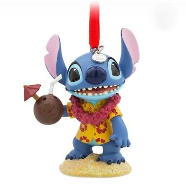 DISNEY STORE 2017 SKETCHBOOK ORNAMENT HAWAII STITCH LILO & STITCH GIFT CHRISTMAS