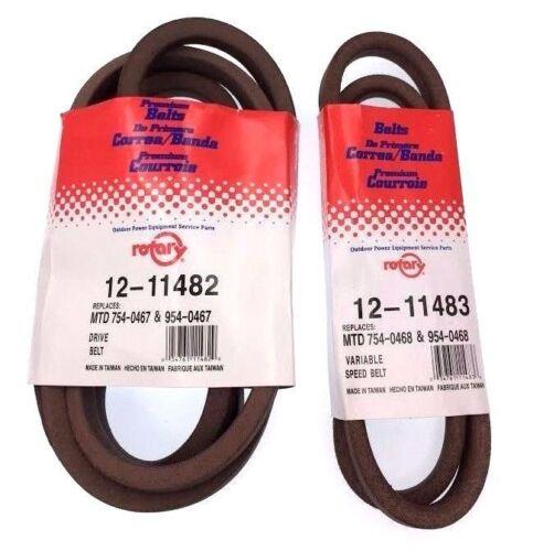 954-0467 954-0468 Drive Belt Set Variable Speed 754-0468 LX423 LX420 LX500 LX425