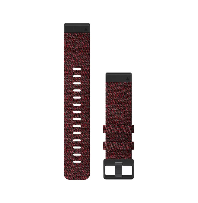 Garmin Quickfit 22 Replacement Watch Bands For Garmin Fenix 6 Heathered Nylon Red