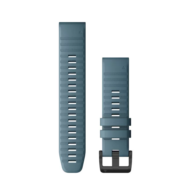 Garmin Quickfit 22 Replacement Watch Bands For Garmin Fenix 6 Lakeside Blue Silicone