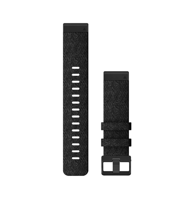 Garmin Quickfit 22 Replacement Watch Bands For Garmin Fenix 6 Heathered Nylon Black