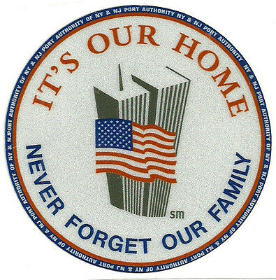9-11 Twin Towers NYC NEW REFLECTIVE Sticker NY NJ Port Authority Police