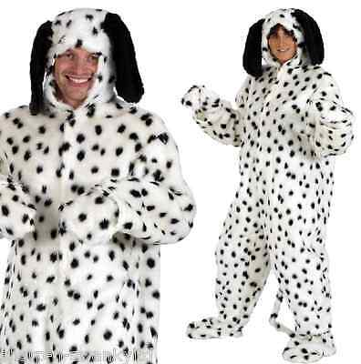 Ladies Mens Fur Dalmation Dalmatian Spotty Dog Animal Fancy Dress Costume Outfit