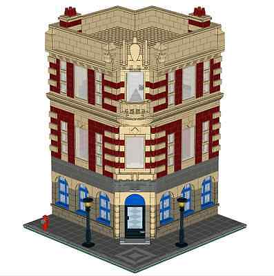LEGO Historic Corner Building Custom Instructions Modular USB Flash Drive ()