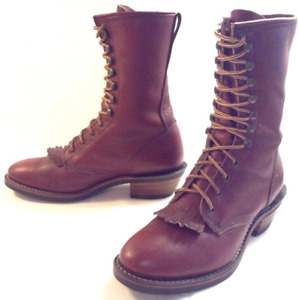 DOUBLE H PACKER BOOT 9.5-10 Engineer Ochre Red Leather