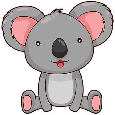 30 Custom Cute Koala Bear Personalized Address Labels