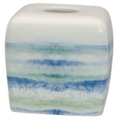 Bath Tissue Holder (Kathy Davis Splash Creative Bath Beach Tissue Holder 100% Ceramic Retail 42.00)