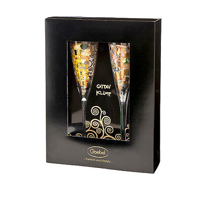 GOEBEL Klimt Champagne glasses Set new/OVP The Kiss / Comes true Artis Orbs 2x