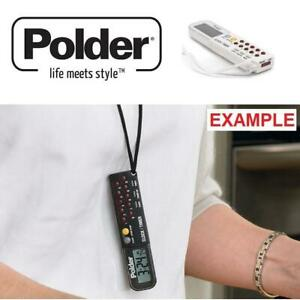 NEW POLDER 3 IN 1 CLOCK  STOPWATCH 898-90 235102375 WHITE