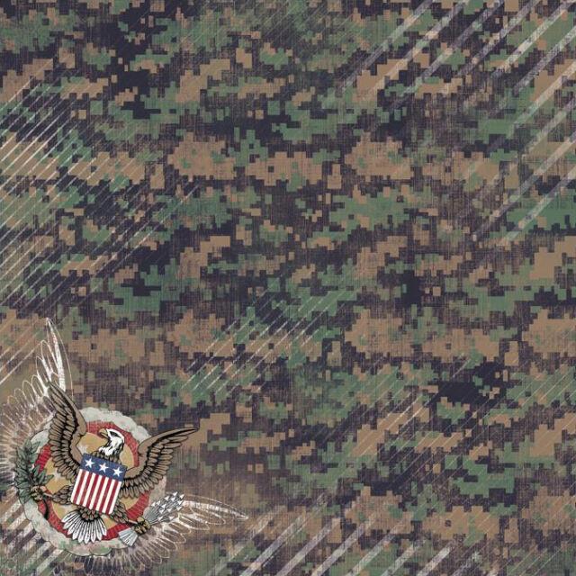 12x12 American Bravery Scrapbook Paper Military 64767 Ebay