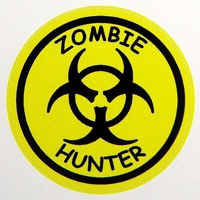 3 - Zombie Hunter Lunch Box Hard Hat Oil Field Tool Box Helmet Sticker H127