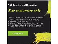 Time served painter over 10years ,Wallpaper,home improvements no job to small 100%excellent reviews