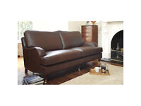 Multiyork Brown Leather settee