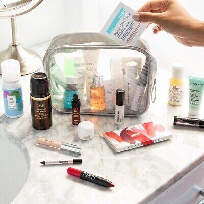 NEW 25pc Blue Mercury Luxury Bag. Makeup, Perfume, Skin, Body & Hair Care La -