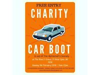 FREE ENTRY CHARITY CAR BOOT SALE - 4TH FEB