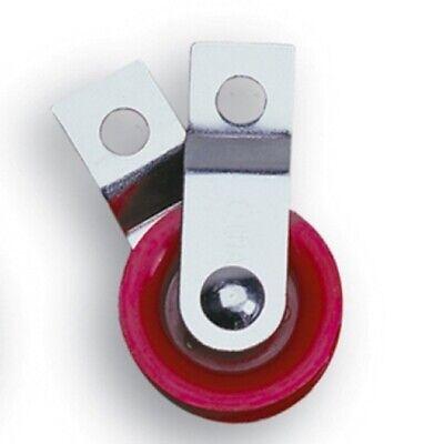 10 1-34 Red Fiberglass Reinforced Nylon Pulleys With Split Bracket