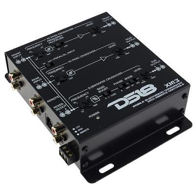 DS18 XM3 3 Way Electronic Crossover with Dash Mount Remote 2 or 3-way Xover ()