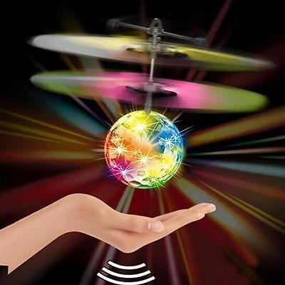 Fly RC Ball Infrared Induction Mini Aircraft Flashing Light Remote Toys For Kids
