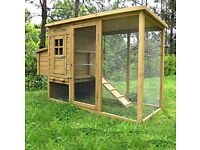 Large Chicken Coop/Rabbit Hutch with Integrated Run