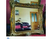 Gold colour mirror