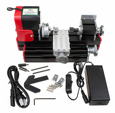Miniature Multifunction Diy Cnc Metal Motorized Mini Lathe Machine 20000rmin Us