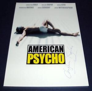 AMERICAN-PSYCHO-MOVIE-CAST-PP-SIGNED-POSTER-12X8-BALE