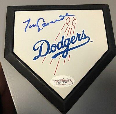 Tommy Lasorda Los Angeles Dodgers Signed Auto Mini Home Plate Rare JSA COA